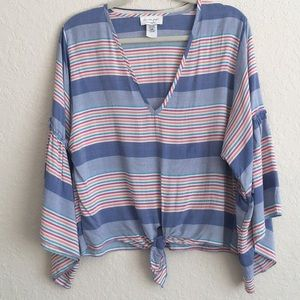 Anthropologie Lavender Field blouse.